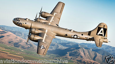 Boeing B-29 Superfortress Bomber blueprint CD/DVD- Free Shipping