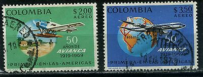 Colombia 2 used  Aereo stamps 1969