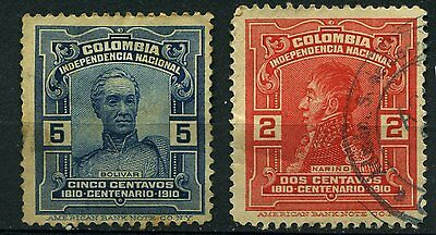 Colombia 2 used  stamps 1910
