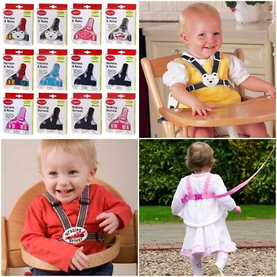 Reins Walking Harness Clippasafe 6m-4yr Adjustable Washable Toddler Child Safety