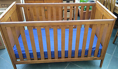 Rustic Solid Pine Mamas & Papas Longhouse Cot/Bed