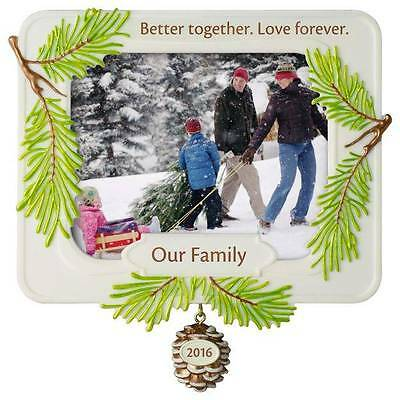 Better Together - 2016 Hallmark Photo Holder Ornament Love Family Christmas Tree