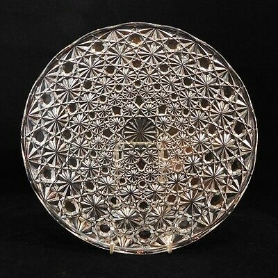 A Beautiful Large Pressed Glass Cake Stand