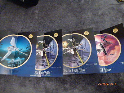 The Hamilton Star Wars Plate Collection Space Vehicles Inserts X 4