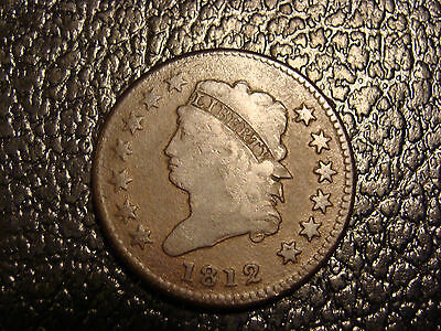 Nice Smooth Surfaces 1812 Classic Head Large Cent VG+ WE COMBINE ON SHIPPING