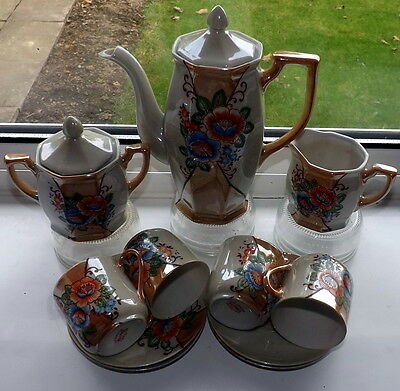Vintage Hand Painted Japanese EggShell Lustre Tea Set
