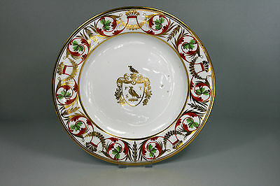 DUESBURY 1863-1866 ( Später Royal Crown Derby) Wappen Teller Ø 25,5 cm