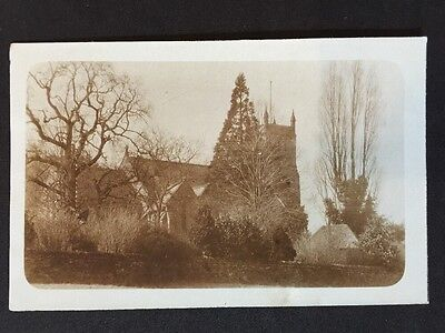 Vintage Postcard - RP Religious - #14 - Unknown Church Graveyard