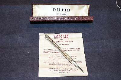 Yard O Led Diplomat Hexagonal Fine Condition Silver H/m Pencil 1948