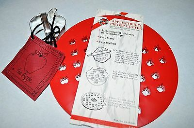 *new~Apple Shaped Cookie/pastry Cutter & Apple/cherry Pietop Pastry Crust Cutter