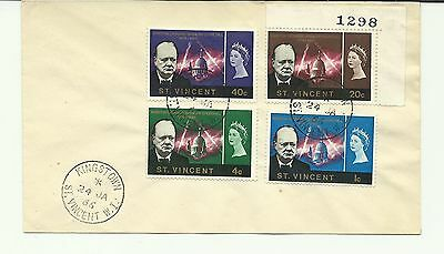 ST VINCENT 1966  Sir Winston Churchill fu set on Cover with with FD postmark