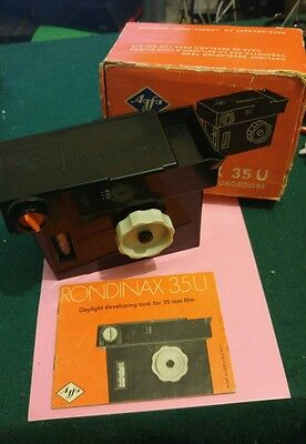 Agfa Rondinax 35U Daylight Developing Tank Boxed w/ Manual