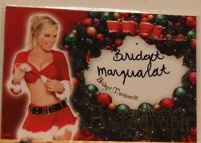 2006 Benchwarmer Holiday Autograph Card - Bridget Marquardt #12 of 16