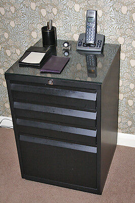 Filing Cabinet. 4 drawers. Low profile. Steel