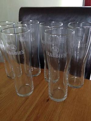 Crabbies etched glasses - Set of 6 boxed
