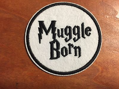"""MUGGLE BORN Harry Potter Fantastic Beasts Patch - Embroidered Iron On Patch 3 """""""