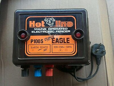 Electric fence energiser- powerful mains 2.5 joule Hotline