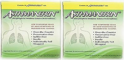 Asthmanefrin Asthma Medication Refill, 60 VIALS ( 2 Boxes ) PRIORITY SHIP!