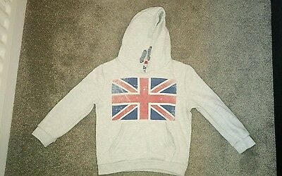 Union jack warm grey hoodie 5-6 yrs ex condition