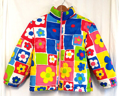 Excellent smart girls BENETTON multicoloured winter coat - age 7 to 8 years