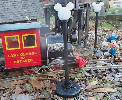 Disney Mickey Icon Street Light G Gauge Train Layout - Kit bashed from NEW PARTS