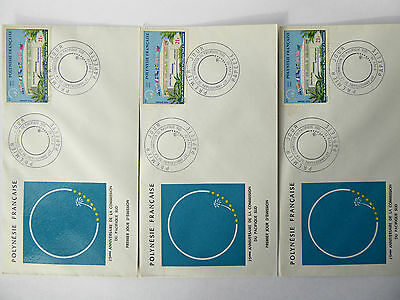 3 x French Polynesia 1972 25th Anniv of South Pacific Commision First Day Cover