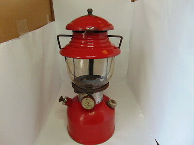 1962 - 8 Coleman Red Lantern Model 200 Made in Canada Globe No 550 Made in USA