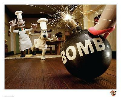 Wallace & Gromit Official Limited Edition artwork - Bomb
