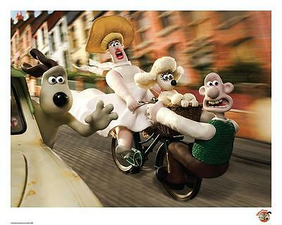Wallace & Gromit Official Limited Edition artwork - No Brakes