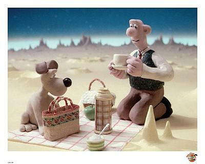 Wallace & Gromit Official Limited Edition artwork - Moon Cheese
