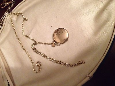 Vintage Rolled Gold Locket And Chain