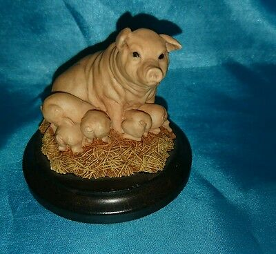 country artist pig and piglets  Ornament great christmas gift