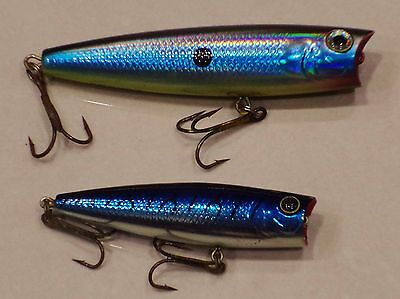 2 x FLADEN POPPER surface lure bass plug pike Coarse Saltwater fishing tackle