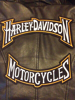 Kit Toppe Toppa Patch Harley Davidson Motorcycles Enorme Giacca Gilet Biker