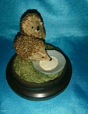 country artist minuture hedgehog x 2 Ornament great christmas gift