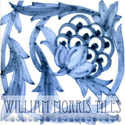 William Morris/William De Morgan Ceramic Wall/Fireplace Tile Kelmscott Manor