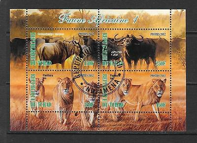 2012 Chad African Wildlife miniature sheet that is cancelled to order