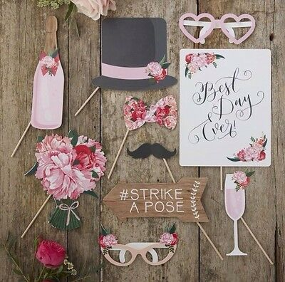 Ginger Ray Wedding Photo Booth Props