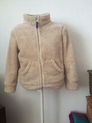mini boden girls faux fur jacket ( age 7-8 years)