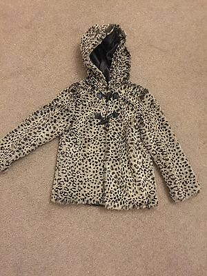 Matalan Leopard Print Fur Type Jacket Aged 8-9 Years
