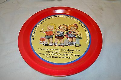 Vintage Campbell'S Soup Kids Tray 1994 Round