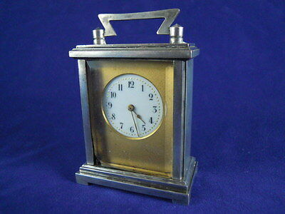 Antique French Verni Bronze Miniature Carriage Clock Working