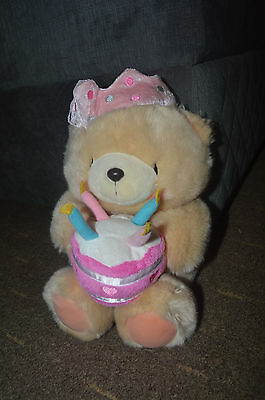 Forever Friends Large Birthday Cake & Crown Cuddly Toy Bear