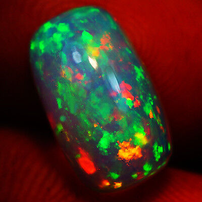 4.07 Ct Pinfire Pattern  Exquisite Flashy Multi Color Welo Cabochon Opal-Re187