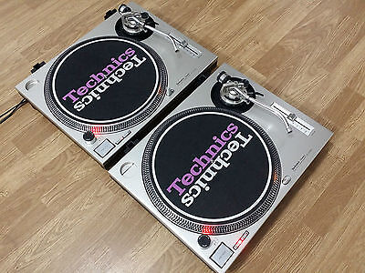 2 Pair Turntable  Technics  Sl-1200 Mk2 Silver ,  Perfect  State  100 % !!!!