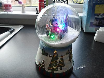 Christmas Snowglobe decoration with led lights