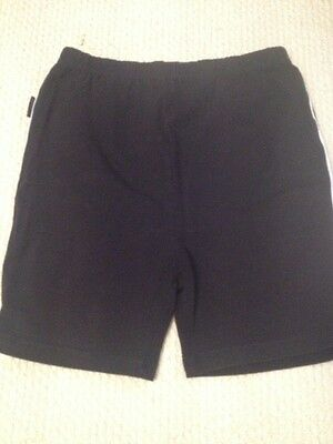 Tu Black School Sports Shorts Age 10 White Piping On Sides