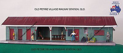 HO Scale Railway Station Old Petrie Village  Model Railway Building Kit - OPTS1