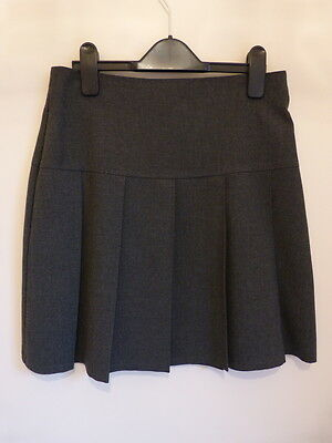 Girls' Grey Pleated School Skirt - M&S - Age 12-13