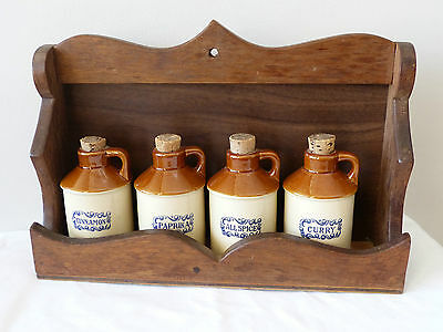 Mint! Cool 1960's Retro Vintage Spice Rack & Jars!